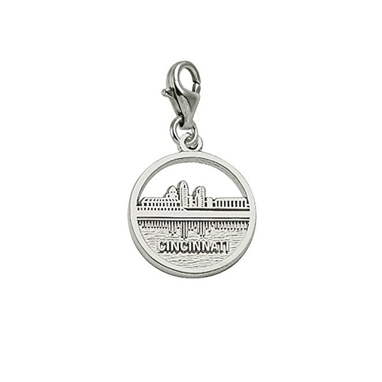 Cincinnati Skyline Charm With Lobster Claw Clasp Charms for Bracelets and Necklaces