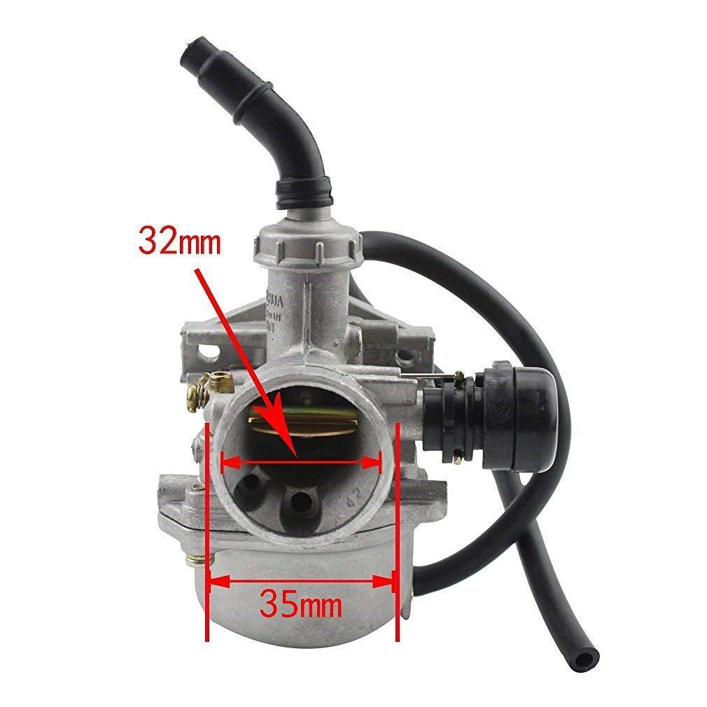 GOOFIT PZ19 Carburateur avec filtre /à air Carburateur Rebuild Kit pour XR CRF 50cc 70cc 90cc 110cc 125cc Mobylette ATV POLARIS Taotao Sunl Roketa Baja Kazuma