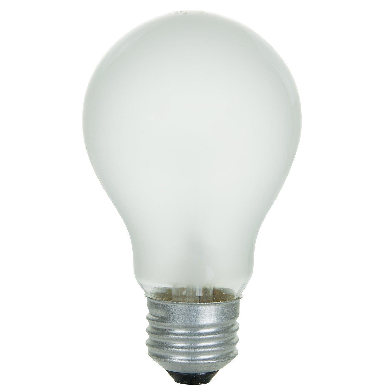 Sunlite 100-Watt A19 Frosted Incandescent Light Bulbs (Case of 48)