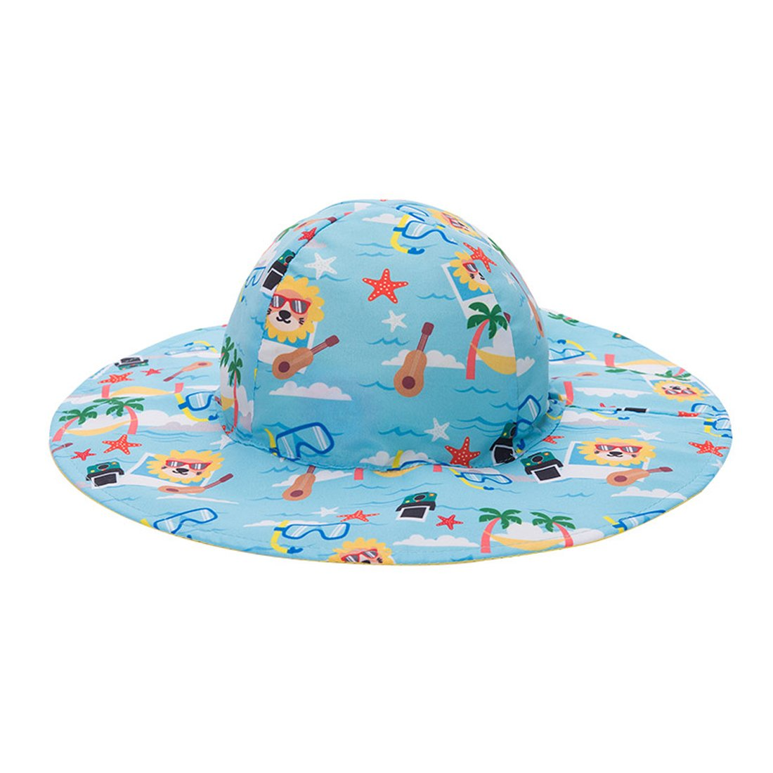 LoveKids Reversible Sun Protection Hat for Girls and Boys(A28007Yellow)