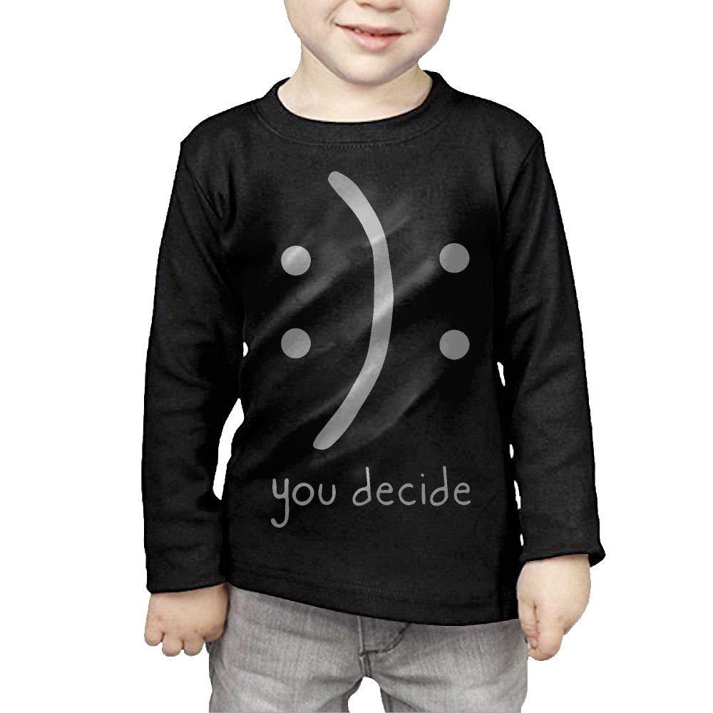 CERTONGCXTS Baby Girls Little Boys You Decide ComfortSoft Long Sleeve T-Shirt