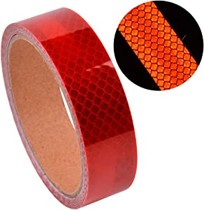 Micro Prismatic Sheeting Reflective Tape Stickers Bike Reflector Stickers Super Reflective Tape, 1 inch Wide, 15 Foot Long, high-Strength pet Reflective Tape