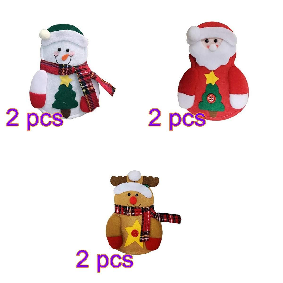 Hemore Borsa Posate Pupazzo di 6 Pezzi [Gruppo] Natale Bianca Natale Addobbi e Decorazioni per ricorrenze