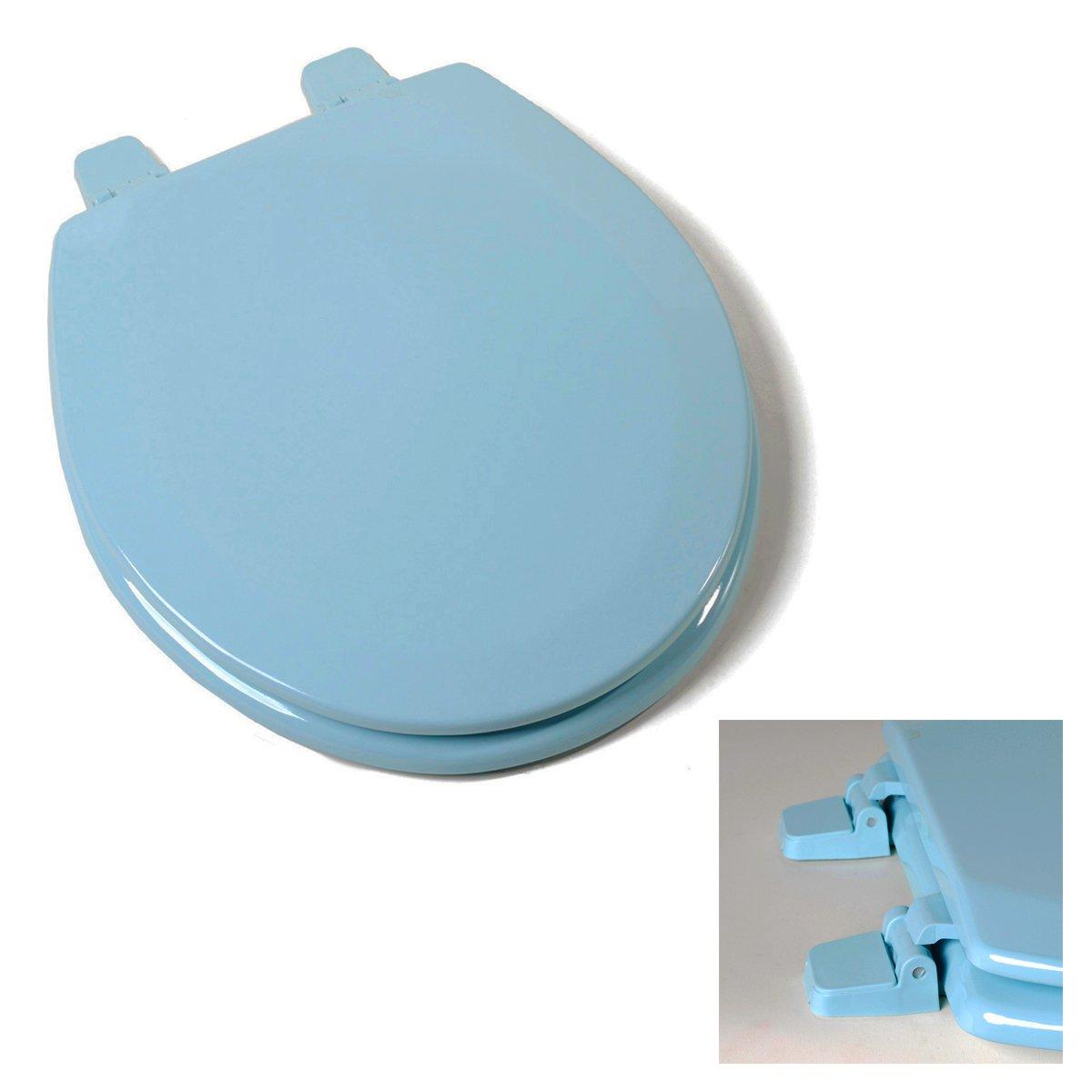 Deluxe Regency Blue Wood Round Toilet Seat - - Amazon.com