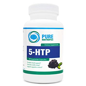 5-HTP by Pure Nootropics - All Natural Cognitive Enhancer & Serotonin Support Supplement |