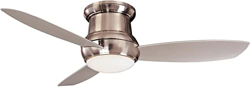 52 LED FLUSH MOUNT CEILING FAN WITH AIR FLOW CAPACITY 3990 CFM