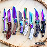 BUCKSHOT KNIVES 8PC ULTIMATE RAINBOW COMBO SET Tactical Outdoor EDC Pocket Folding KNIFE RAZOR BLADE PUNISHER CLEAVER WRENCH MULTIPURPOSE KNIFE
