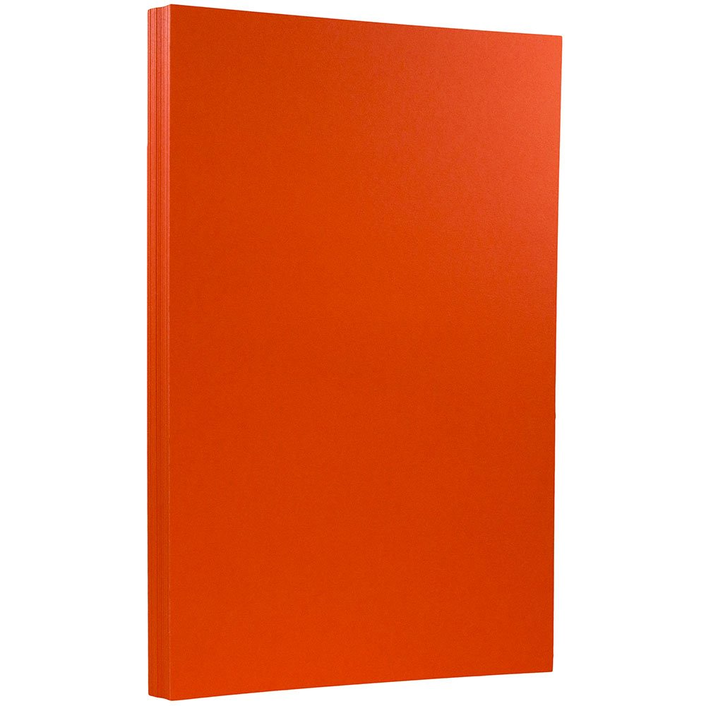 JAM PAPER Legal 65lb Cardstock - 8.5 x 14 Coverstock - Orange Recycled - 250 Sheets/Pack by JAM Paper (Image #1)