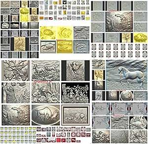 3D model STL for artcam, cnc, 3D printer Artcam, Aspire,Mach3 full animals 204 models