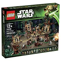 Travel to Endor and visit the treetop home of the Ewoks. Just like in Star Wars: Episode VI Return of the Jedi, this recreation of the Ewoks' forest dwelling is packed with cool functions, including the tree-trunk hideout, secret Lightsaber s...
