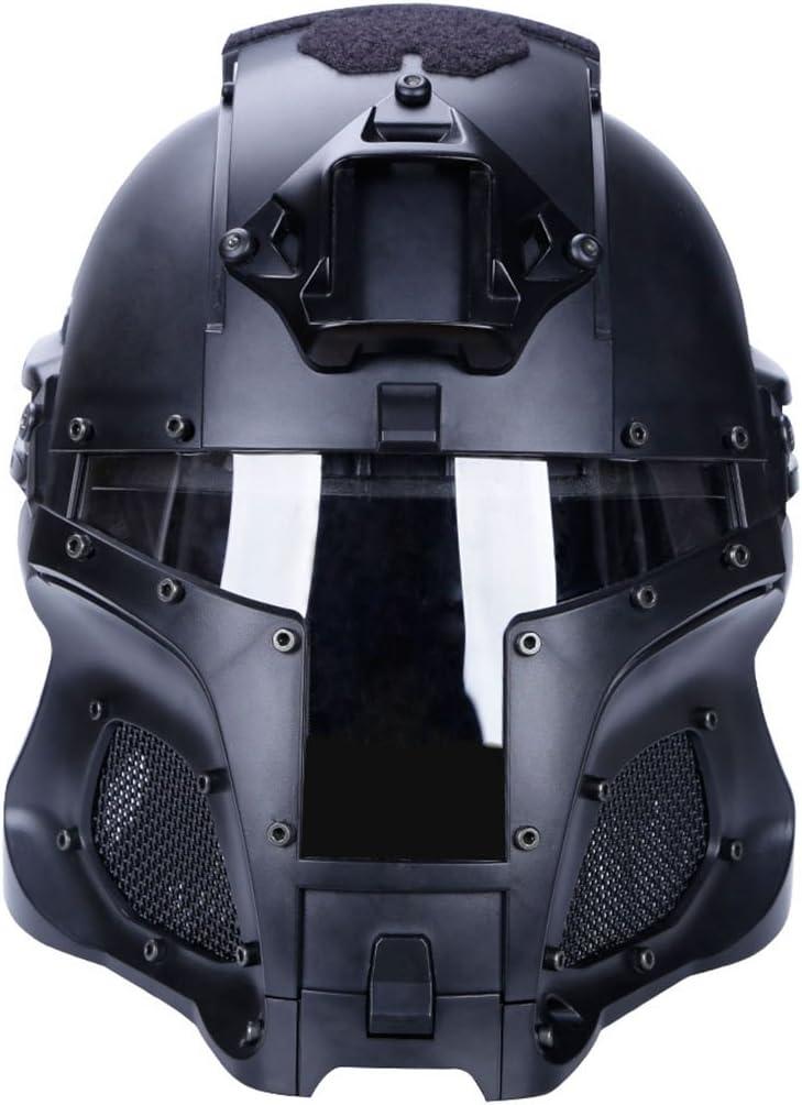 Mecotech WST Estilo Seguridad Casco con Gafas Casco Militar Táctico Combate Airsoft Paintball Casco Integral Casco