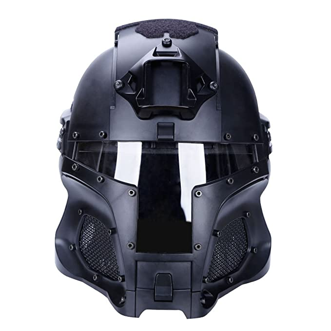 Amazon.com : WOLFBUSH Tactical Helmet Protective Fast Helmet Full Face Mesh Mask Goggle Outdoor Activity : Sports & Outdoors