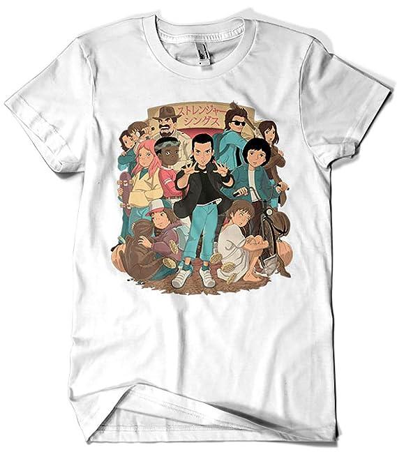 Camisetas La Colmena 3631-Stranger Anime2 (Saqman): Amazon.es: Ropa y accesorios