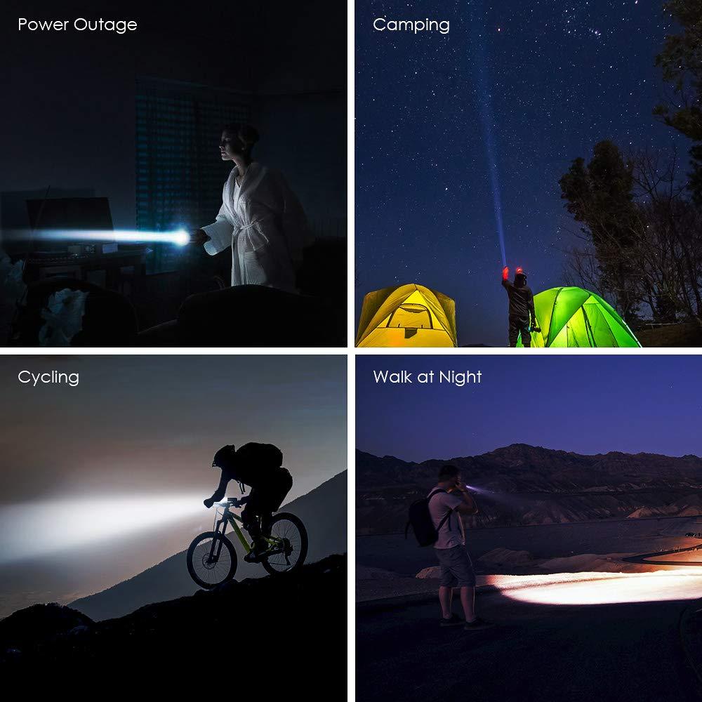 Resistente al Agua 600 l/úmenes Accesorios de Seguridad para Bicicleta USB luz LED Cree para Bicicleta IPX6 Gaciron Luz Delantera para Bicicleta Recargable