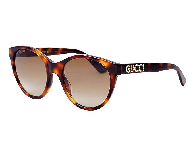 Gucci - Gafas de sol - para mujer Marrón Havana 56: Amazon ...
