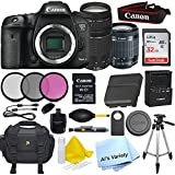 Canon 7D Mark II Digital SLR Camera with EF-S 18-55mm IS STM Lens(Black) + EF-S 75-300mm Lens with SanDisk Ultra 32GB SDHC Class 10 Card + W E1 WiFi Card + Accessory Bundle