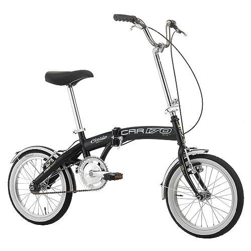 Bicicleta plegable Car Bike de acero 16pulgadas negro