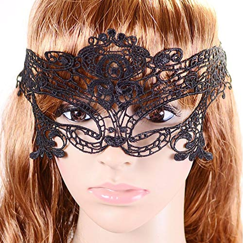 1 PC Sexy Elegant Eye Face Mask Masquerade Ball Carnival Fancy Party 2019 New (Black) ()