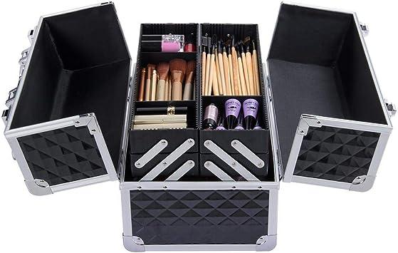 Yaheetech Estuche de Maquillaje Caja de Belleza Cosmetico Organizador Beauty Case: Amazon.es: Equipaje