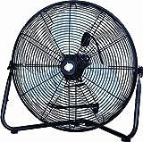 PMX 20'' High Velocity Floor Fan, Metal, black (HV-20K) (black),fan, floor fan, electric fan
