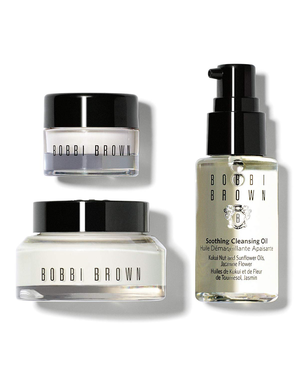 Bobbi Brown Carry On Skincare Sets/Kits, Hydrating Face Cream 15 Milliliter, Hydrating Eye Cream 7 Milliliter, Soothing Cleansing Oil 30 Milliliter