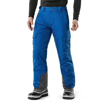 TSLA Mens Snow Pants Windproof Ski Insulated Water-Repel Rip-Stop Bottoms