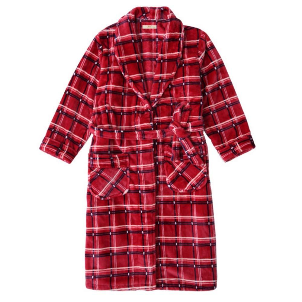 NAN Liang Damen Bademantel Langarm Cotton Morgenmantel BathRobe Fredtee Saunamantel VNightwear (Size   M)