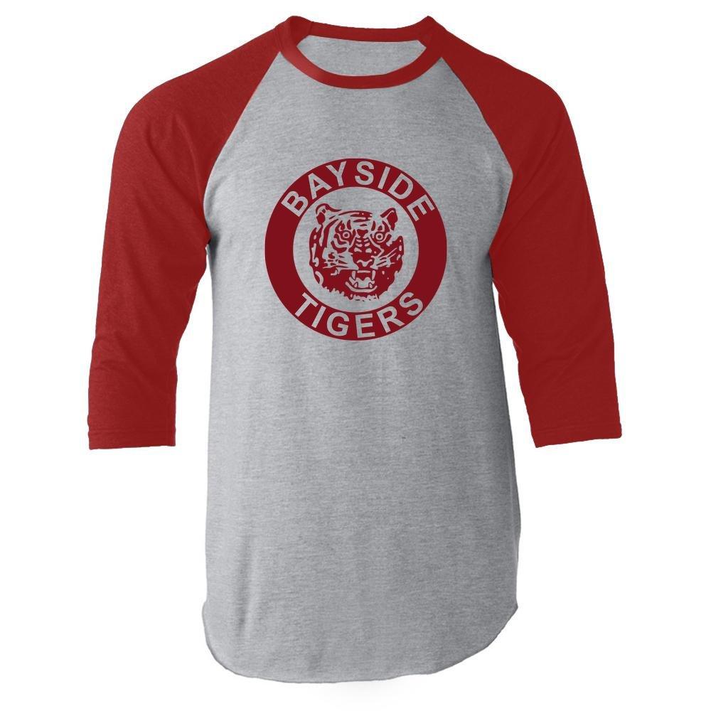 Bayside High School Tigers Red 2XL Raglan Baseball Tee