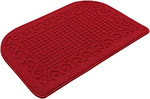 32X20 Inch Anti Fatigue Kitchen Rug Mats are Made of 100% Polypropylene Half Round Rug Cushion Specialized in Anti Slippery and Machine Washable (32x20in Burgundy 1pc)