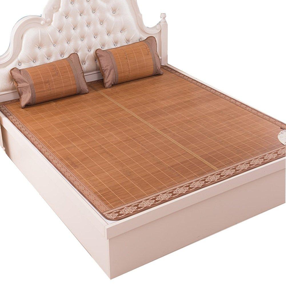 WENZHE Bambus Matratzen Sommer-Schlafmatten Strohmatte Teppiche Falten Doppelseitige Verwendung Zuhause Schlafzimmer Multifunktion, 6 Größen (größe : 1.35×1.95m)