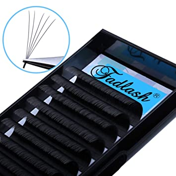98cdbd6010a Amazon.com : Volume Lash Extensions, D Curl 15mm Easy Fan Volume Lashes  0.07mm Rapid Blooming Eyelash Extensions 4D 5D 6D 7D 8D 10D Cluster Eyelash  ...