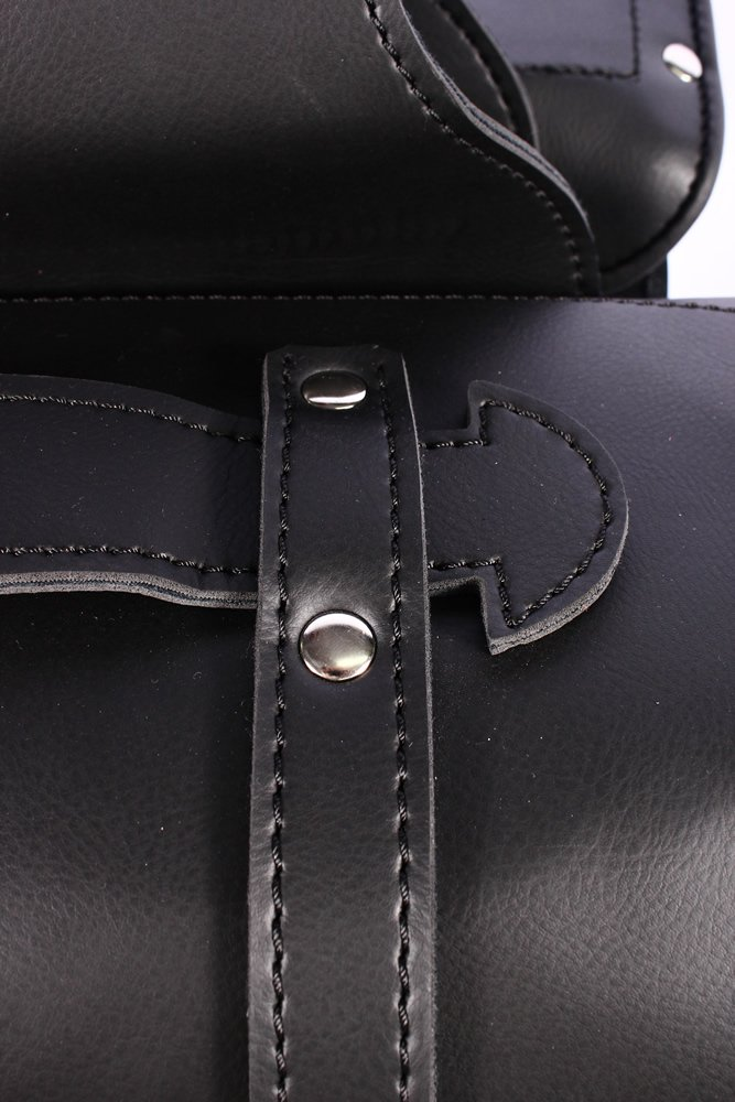 SD48 LEGEND Black Cruiser Motorcycle Motorbike Panniers Leather Look PU Saddle Bag Set