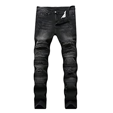 23954e18edfb Memoriesed 2018 Jeans Hip hop Rock Moto Mens Designer Clothes Ripped Skinny  Denim