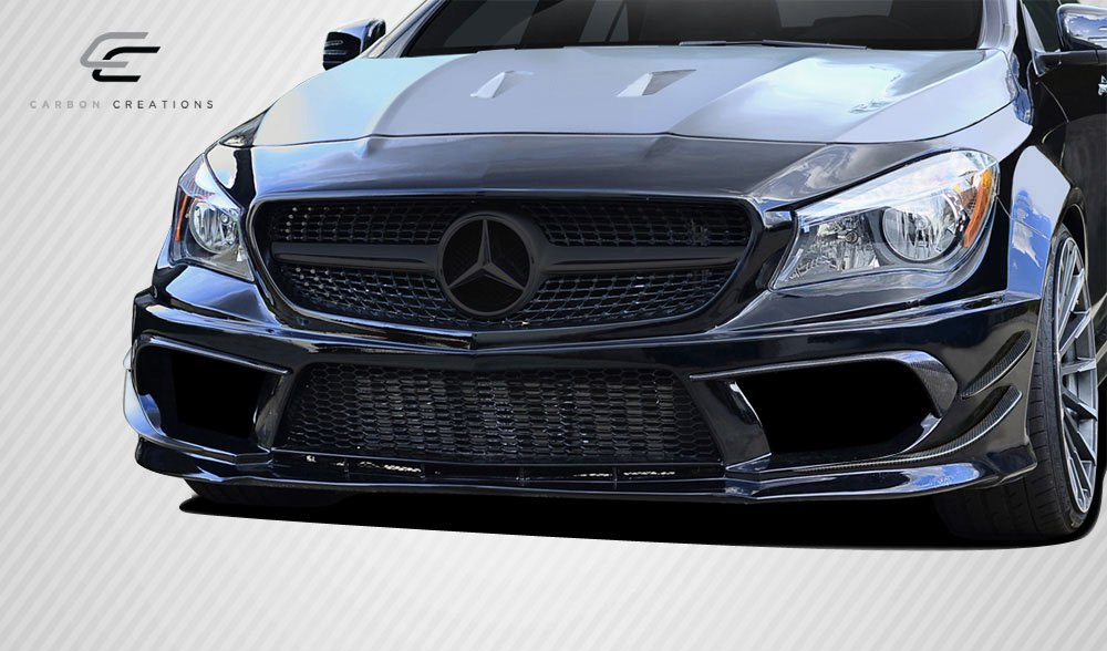 Carbon Creations Replacement for 2014-2015 Mercedes CLA Class Black Series Look Wide Body Front Bumper Accessories - 6 Piece by Carbon Creations (Image #2)
