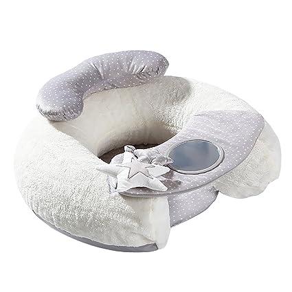 a87383218 F Fityle Bebé Asiento Cojín Suave Sofá Felpa Aprendiendo A Sentarse Asiento  Inflable De Apoyo