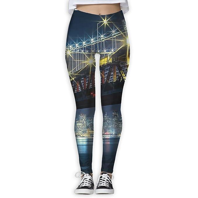 Amazon.com: Yoga Leggings pantalones puente dorado Gate de ...