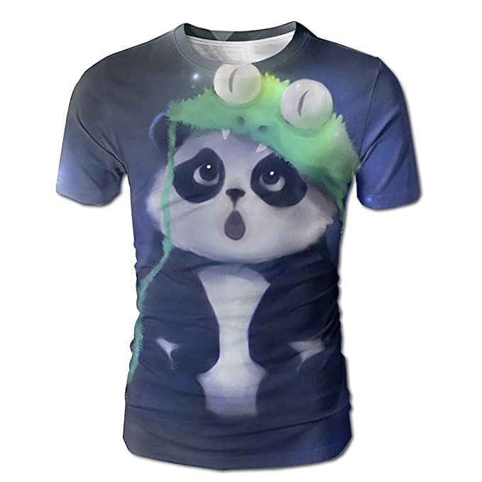 7c1b12fc9a67 Men s T-shirt Cute Panda 3D Full Print Short Sleeves Round Neck Shirts Tops  Tees  Amazon.ca  Clothing   Accessories