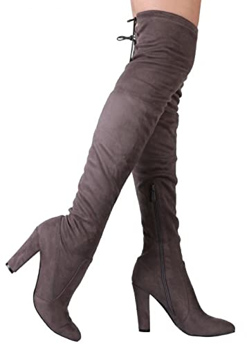 Wild Diva Lounge Amaya Drawstring Over-the-Knee Boot uYrdPGYG