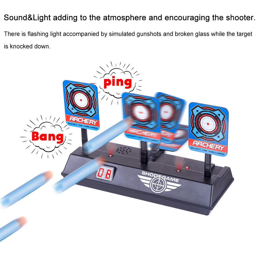 HanDingSM Electronic Scoring Target Compatible with Nerf Guns N