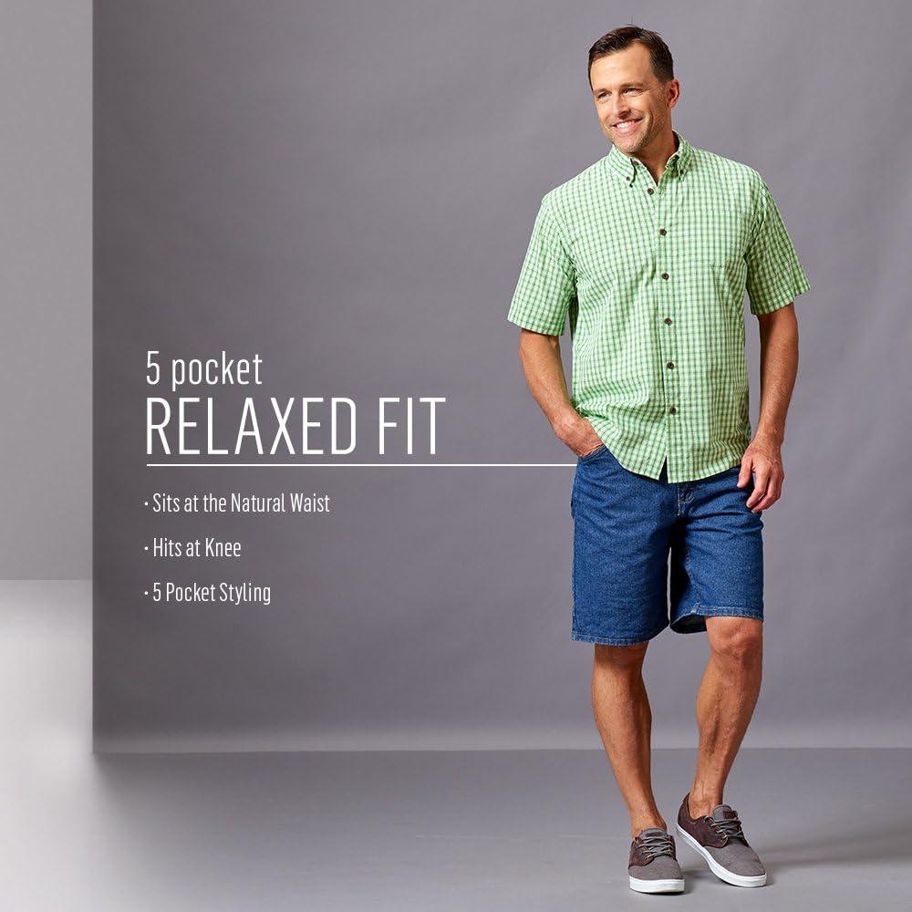 Wrangler Mens Classic Relaxed Fit Five Pocket Jean Short Denim Shorts