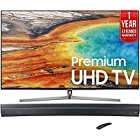 Samsung UN55MU9000 55-Inch 4K Ultra HD Smart LED TV (2017 Model) + HW-MS6500/ZA Sound+ Curved Premium Soundbar + 1 Year Extended Warranty