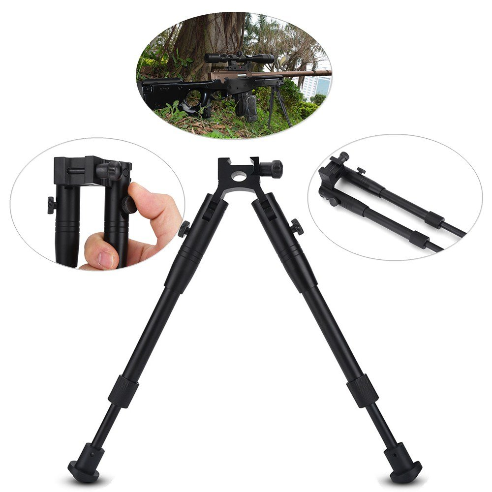 Hunting Rifle Bipod Tactical 6'' To 9'' Bipod Adjustable Spring Return Bipod Swivel Holder Mount for Rifle Hunting by Vbestlife (Image #9)