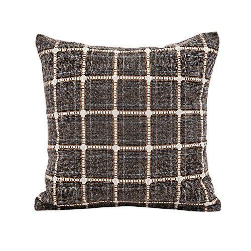 (Littay Pillowcase 18inch x 18inch,Flax Pillow Sofa Waist Throw Cushion Cover Home Decor Cushion Cover)