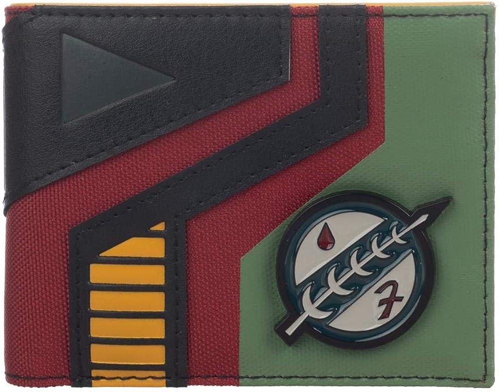 Star Wars Mixed Material Boba Fett Bi-Fold Wallet
