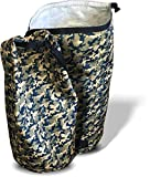 PRlME WEEK DEAL - Extra Large & Tough Laundry Hamper - Waterproof Heavy Duty Nylon Washing Basket for Student Dorms, Sports, Camping & Fishing Trips. Makes Carrying All Your Dirty Gear A Cinch!