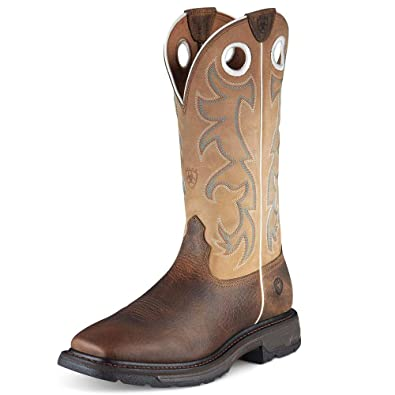 Ariat Mens Workhog Tall Steel Toe Western Work 10.5 D / Medium(Width) Earth