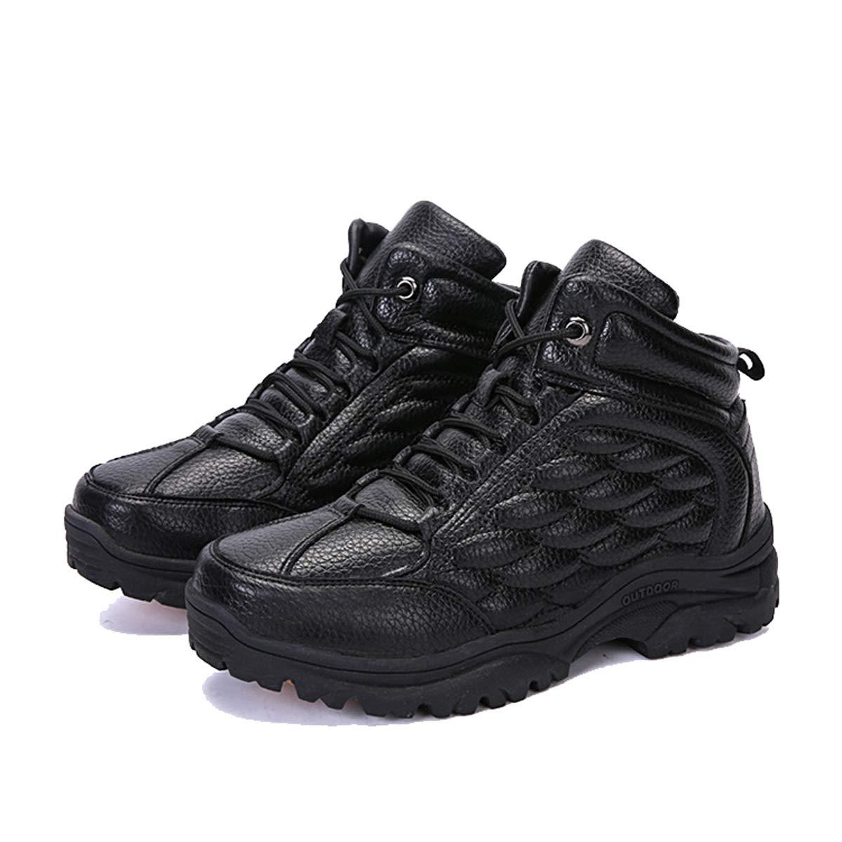 Adong Herren-Wanderschuhe Leder Wasserdichte Schuhe Niedrig-Top-Shosten Leichtbauschuhe für Herbst und Winter,B,41EU
