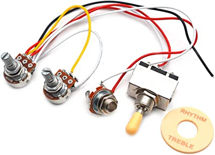 Amazon.com: GETMusic Guitar Wiring Harness Set Prewired 500K Pots 3 Way  Toggle Switch Wiring Harness Kit with 6.35 Output for Electric Guitar:  Musical Instruments | Guitar Wiring Harness 3 Way Switch |  | Amazon.com