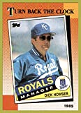 1990 Topps #661 Dick Howser 1985 RIP TURN BACK THE CLOCK KANSAS CITY ROYALS