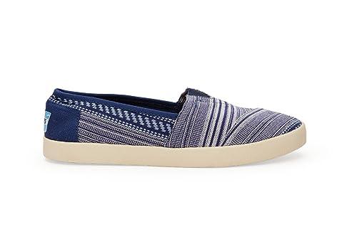 TOMS Avalon - Zapatillas de Lona para mujer Azul Blue Tribal: Amazon.es: Zapatos y complementos